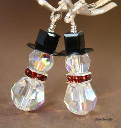 Swarovski Earrings Holiday Jewelry Swarovski Crystals by ShinyGems, $24.00
