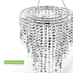 Wedding Chandeliers Centerpieces Decorations Crystal Bling Diamond Cut for Event Party Decor. $35.00, via Etsy.