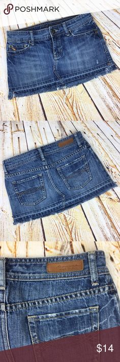 Abercrombie & Fitch distressed denim skirt size 00 Abercrombie & Fitch distressed denim skirt size 00 Abercrombie & Fitch Skirts