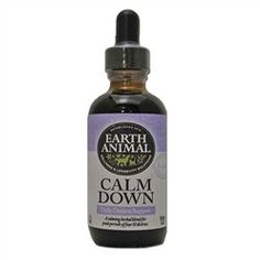 Earth Animal Calm Down Supplement for Dogs Help calm your dog naturally with this remedy. It uses Valerian Root and Chamomile to keep dogs calm. Many canines get stressed or anxious during thunderstor
