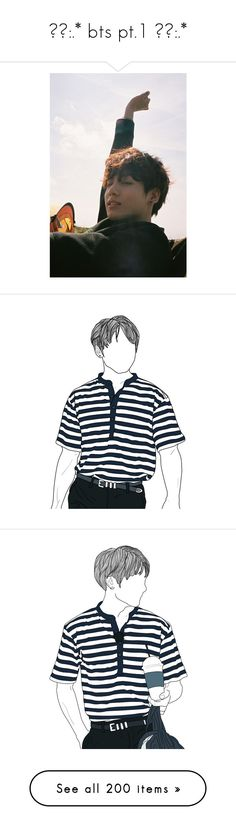 """✧。:.* bts pt.1 ✧。:.*"" by cvddlytae ❤ liked on Polyvore featuring jungkook, bts, filler, fillers, magazine, jewelry, earrings, kpop, tops and black and white top"