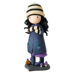 Gorjuss Toadstool Figurine, Start someone collection today with this lovely keepsake figurine.  New 2014