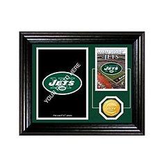 New York Jets Framed Memories Desktop Photo Mint by Highland Mint
