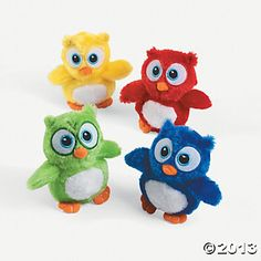 Plush Owl Favors on Oriental Trading