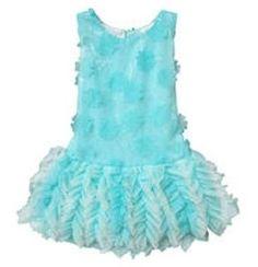 NEW Isobella & Chloe Elsa Aqua Blue Floral Tulle Ballerina Easter Dress 4 4T NWT