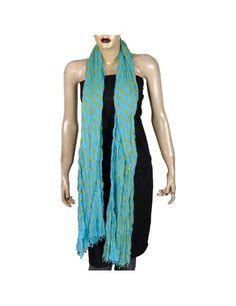 Bleue rayures Echarpe d été design Accessoires en Coton 223 x 101 Cm   Amazon.fr  Vêtements et accessoires 5a22f4b1ebe