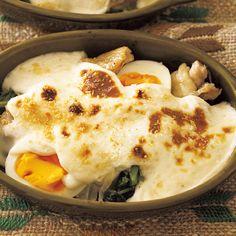 チキンとほうれん草の卵グラタン | 堤人美さんのグラタン・ドリアの料理レシピ | プロの簡単料理レシピはレタスクラブネット