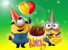 minions new year's eve clip art Minion Birthday Wishes, Happy Birthday Emoji, Birthday Wishes For Kids, Birthday Wishes And Images, Happy Birthday Messages, Happy Birthday Greetings, Minion Gifts, Birthday Wallpaper, Happy Wishes