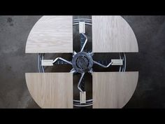 Charmant Expanding Round Table From Reclaimed Barn Wood   YouTube