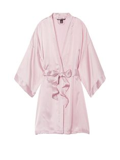 Browse sexy kimonos in lace and silk today at Victoria's Secret. Choose from short or long kimonos available in a variety of colors today at Victoria's Secret. Pijamas Victoria Secrets, Victoria Secret Pyjamas, Victoria Secret Pink, Victoria Secret Clothing, Satin Kimono, Pink Silk Robe, Satin Rose, Pink Satin, Kendall