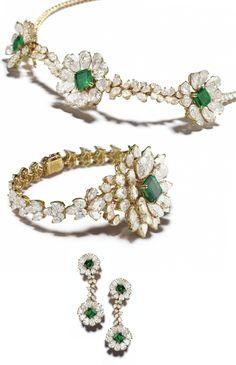 """An Exceptional Gold, Emerald and Diamond """"Trembleur"""" Suite, Alexandre Reza"""