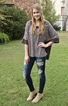Fun sleeves, and a soft material. Get this top today and be the attraction on any day wearing this cute top! Perfect for any day and dress it up for a classy night out, too! Girls Boutique, Cute Tops, Night Out, Classy, Skinny Jeans, Sleeves, How To Wear, Collection, Dresses