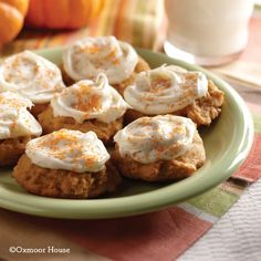 Gooseberry Patch Recipes: Pumpkin Patch Cookies with Cream Cheese Frosting from A Ghastly-Good Halloween Cookbook