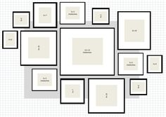 ikea ribba gallery wall layout 2 excel
