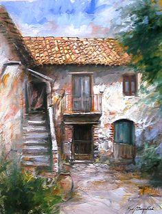 Old Courtyard ~ Francis Mangialardi