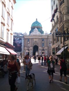 #Vienna Graben (street) with a view of the #Hofburg, photo by Hannes Wimmer/mounthagen on Pinterest