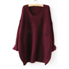 Yoins Burgundy Casual Round Neck Knitted Jumper ($22) ❤ liked on Polyvore featuring tops, sweaters, yoins, shirts, burgundy, burgundy shirt, sleeve shirt, burgundy top, going out shirts and party jumpers