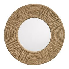 Jute Round Mirror brings the outdoors into any room of your home. The mirror is surrounded by a jute rope frame. Rope Mirror, Rope Frame, Round Wall Mirror, Wall Mounted Mirror, Round Mirrors, Diy Mirror, Bathroom Mirrors, Vanity Mirrors, Circular Mirror