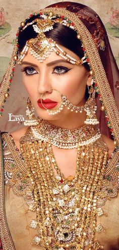 Punjabi jewellery with Sindhi Duhri rani haat/sona mati rani haar Indian Bridal Makeup, Indian Bridal Wear, Asian Bridal, Pakistani Bridal, Bridal Beauty, Bridal Lehenga, Mehndi, Henna, Saris