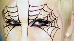 Halloween Makeup: Spider Web Mask
