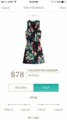 Stitch Fix, Collective Concepts Ali Dress. Yay for fall florals!
