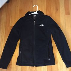 NORTHFACE OSITO JACKET Cute black NORTHFACE jacket. The outside is a fleece and the inside is a furry fuzzy material. Super soft and comfy. Gently worn! North Face Jackets & Coats
