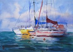 Frame It, Contemporary Paintings, Watercolour Painting, Sailing Ships, Original Artwork, The Originals, Artist, Artists, Sailboat