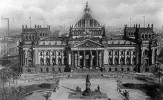Reichstagsgebäude Berlin - historische Aufnahme