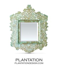 Beautiful mirror from Plantation Design