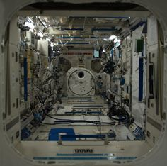 Space Laboratory - looking down the length of the Japanese Lab, called 'Kibo' (meaning 'hope'). Photo Cdn. astronaut Chris Hadfield. 2013
