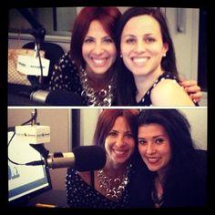 Power Play co-host Alicia Menendez and Bettina Inclan in studio at Sirius XM with Cristina Radio Programming Dir,  Sachari