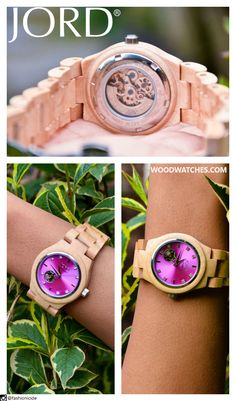 Suffused with vivid hues, graphic prints, and enticing textures your world is saturated in style. Like our Cora, brightly hued lavender bursts from the center of the blond maple casing like an explosive summer bloom. Wear a timepiece that matches you. Wear a JORD. Shop the full collection at www.woodwatches.com