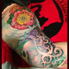 Jeff Gogue tattoo. Love this. Color scheme is great too.