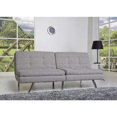 Memphis Ash Double Cushion Futon Sofa Bed Ping Great Deals On Sofas