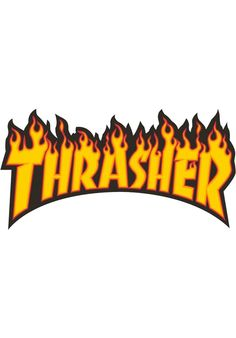 Thrasher Flame-Sticker-(large) - titus-shop.com  #Misc. #AccessoriesFemale #titus #titusskateshop