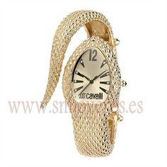Reloj Just Cavalli Mujer .Modelo R7253153517. Coleccion Poison. Caja de metal ip dorado. Brazalete de metal e ip dorado. Maquina de Cuar...