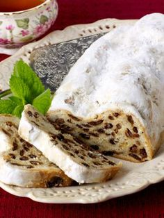 "Authentic ""Christstollen"" Unites Rum and Stollen For a Rich, Old-World Dessert German Christmas Cookies, German Cookies, German Cake, Christmas Bread, Christmas Cooking, Christmas Desserts, German Bread, German Stollen, Stollen Recipe"