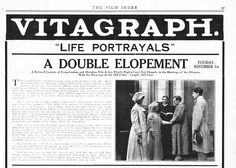 Film Index, November 5, 1910 synopsis of A DOUBLE ELOPEMENT (1910)