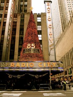 Radio City Music Hall where the Rockettes perform the Christmas Story every year for the holidays.  A tradition you must see at least once.