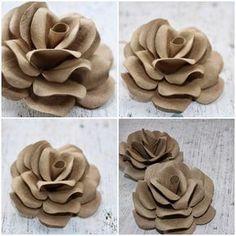 Como fazer rosas utilizando tubos de papel higiênico vazio