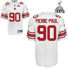 3c9a97d00 New York Giants 90 Jason Pierre Paul White 2012 Super Bowl Jersey Jason  Pierre Paul