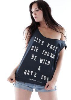 Rockiges Shirt Have Fun: CATWALK JUNKIE, Niederlande