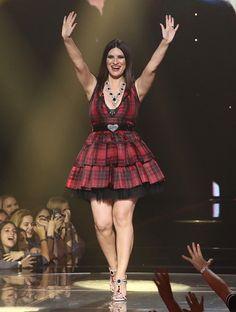 Laura Pausini is seen on the set of the reality show 'La Banda' at Univision Studios on November 22 2015 in Miami Florida Laura Paussini, Divas, Laetitia Casta, Blake Lively, Jennifer Lopez, Red Color, Persona, Curvy, Stock Photos