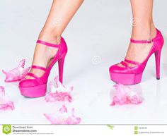 pink fashion | Fashion Pink High Heels And Flowers Royalty Free Stock Image - Image ...