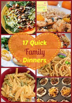 17 Quick And Easy Nutritious Family Dinners #healthymeals #whatsfordinner