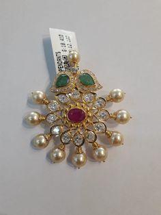 Gold Earrings Designs, Gold Jewellery Design, Gold Jewelry, Beaded Jewelry, Indian Jewelry Earrings, India Jewelry, Pendant Jewelry, Gold Pendent, Diamond Pendant