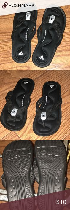 cae0f1cdf472 Shop Women s adidas Black size 8 Sandals at a discounted price at Poshmark.  Description  Size 8 women s worn once.