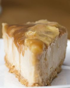 Carmelized banana peanut butter cheese cake