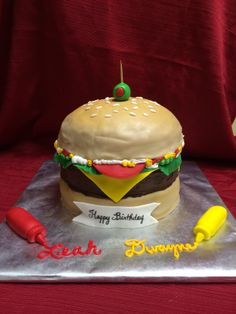 Cheeseburger cake for my coworkers