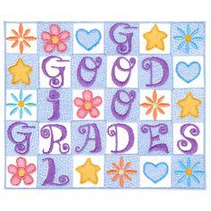 {4 Girls-Crossword Ltrs Good Girl Good Grades CK721 K.H.}  Good Grades